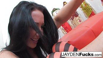 Jayden Jaymes and Kristina's Pumpkin Fun