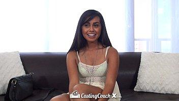 CastingCouch-X - Latin Eva Saldana rides casting agents hard dick