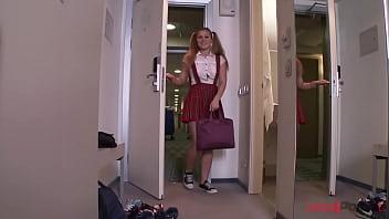 Horny teen slut Bella Moor assfucked POV style SAL005