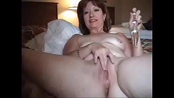 Spy cam catching mom masturbating alone bedroom