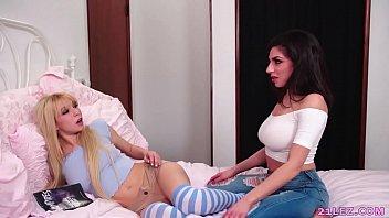 Lesbian roomies have orgasms - Darcie Dolce and Kenzie Reeves