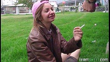 linda latina Andrea Abrego ficando facialized depois de um caralho duro