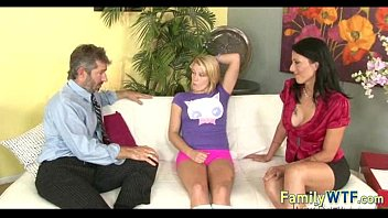 Husband and wife fuck the babysitter 699