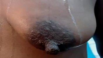 Ebony saggy tits big long nipples
