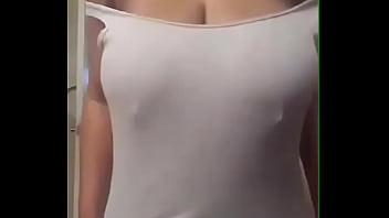 Desi Indian Girl Sangita Playing With Her boobs