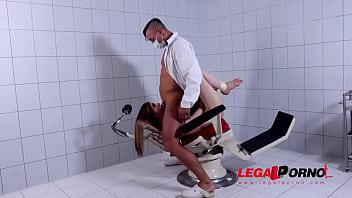 Dominant Doc spanks, chokes & fucks petite Italian Stella Cox at the clinic GP631