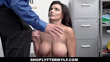 ShopLyfterMYLF - Big Tits Milf Caught Stealing Deepthroats Security Guard