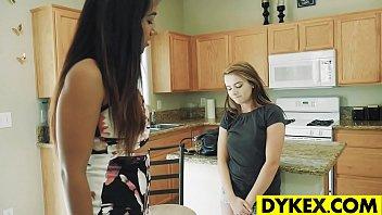 Lesbian girls Karlie Brooks and Luzbel