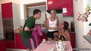 His mom teaching blonde teen teen   lesbians   mature   granny
