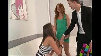 Threesome FFM Strap On Teens