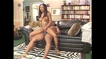 Smoking hot big tits ebony banging a big black cock