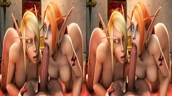 SFM World of Warcraft animated blood elf double blowjobnoname55