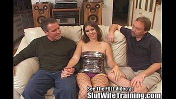 Husband Joey wants hotwife Dana to get a double dicking cumshot