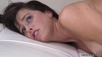 Hubby anal fucks wife in bondage