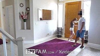 SpyFam Angry step dad fucks skinny perky brunette Kimmy Granger
