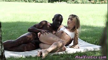 Ass banged babe enjoys interracial action