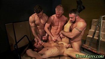 Gay Group Spray Hot Jizz
