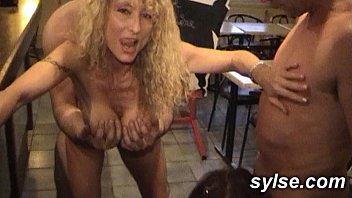 2 SLUTS in a restaurant
