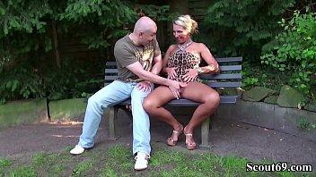 German Big Tits MILF Seduce Stranger to Fuck in german stranger
