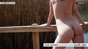 Super hot mommy showing tits and pussy outdoor - XCZECH.com