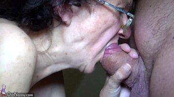 OldNanny Mom and Teen masturbating and sucking dick boyfriend