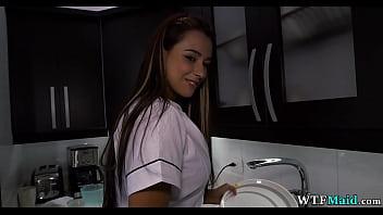 Gorgeous maid in my kitchen