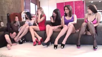 Feet Worship with sadistic glamour girls