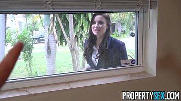 PropertySex - Busty real estate agent works hard for holiday Xmas bonus