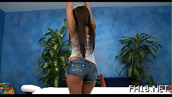 Hawt and sexy 18 year old babe gets screwed hard from behind from her massage therapist