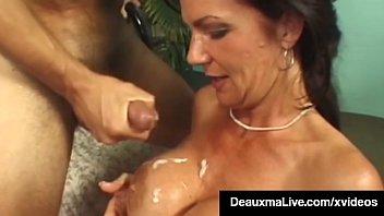 Texas cougar deauxma watches as sally dangelo bangs hubby - 1 part 8