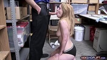 Innocent blonde virgin rough fucked on CCTV