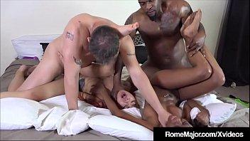 2 Tight Ebony Babes Banged By Rome Major & Tommy Utah!