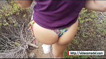 Irmão e irmã de etapa adolescente têm sexo público no paraíso Visite http: videosmodel.com