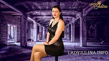 Entsorge die Ehefotze Sklave und diene der dominanten Herrin Lady fetish wetlook-dress