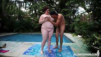 Fat Tit Slut Dreams of Cock By Pool