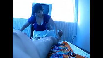 Asian masseuse jerk me off for big load!