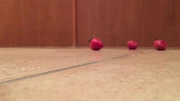 Tall Leather Platform Boots Crush Strawberries