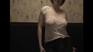Wet t-shirt flashing tits