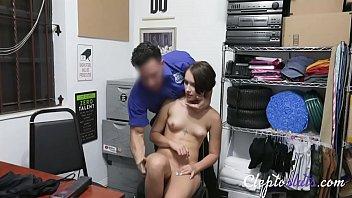 Brunette Hot Teen Forced By Security Officer- Natalie Porkman