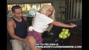 Mature Big fake titty Gina Lynn fucks her poolboy for a bill