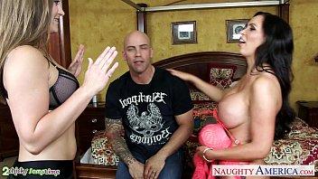 Superb chicks Dani Daniels and Nikki Benz share cock