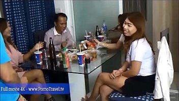 Drunk thai party girls