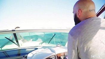 CHICAS LOCA - Wild hard fuck on a boat with tattooed Spanish MILF Gina Snake