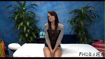 Wacko slut takes jock from her massage therapist