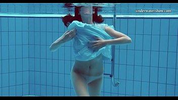 Hot teen unterwasser swims and strips - 2 part 7