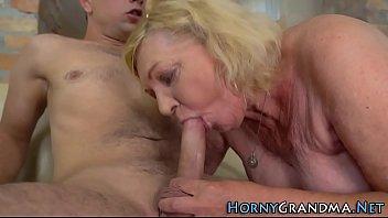 Horny granny gets nailed