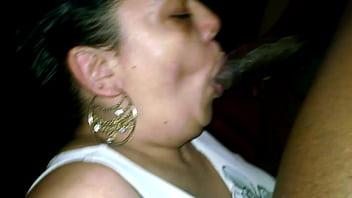 BBW Latina Cumslut Gloryanna Ride gets sucks BBC bone dry