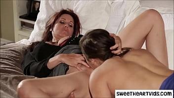 Daughter licks Moms asshole
