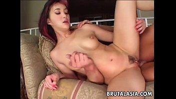 Asian slut Katsuni takes a big dick in her anus