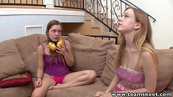 StepSiblings lovely blondes lesbian licking